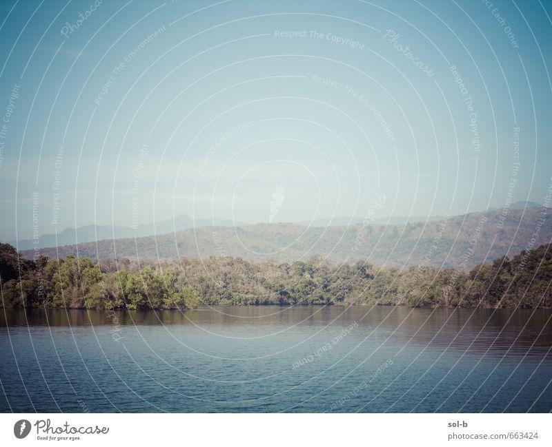 Natur Ferien & Urlaub & Reisen Wasser Sommer Sonne Baum Erholung Landschaft ruhig Wald Berge u. Gebirge Umwelt Wärme Freiheit Gesundheit Zufriedenheit
