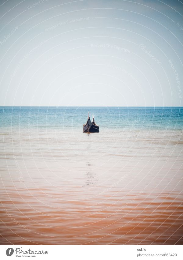 Himmel Natur Ferien & Urlaub & Reisen Wasser Sommer Meer Erholung ruhig Ferne Wärme Küste Freiheit Wasserfahrzeug Horizont Luft Zufriedenheit
