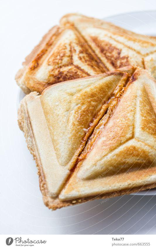 für den kleinen Hunger Lebensmittel Getreide Teigwaren Backwaren Brot Ernährung Essen Mittagessen Fastfood ästhetisch Wunsch Belegtes Brot Toastbrot