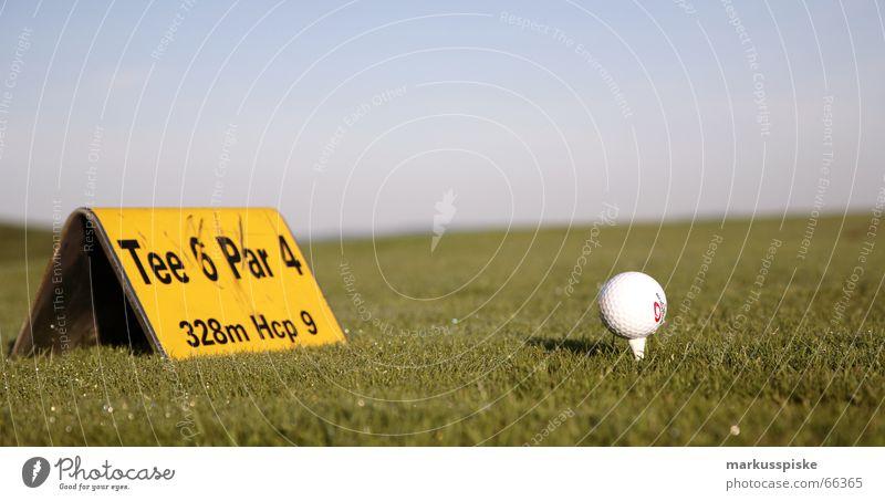 Tee 6 Platz Abschlag Profi Golf Rasen Ball Sport Himmel Behinderte pga pro par eagle birdie even bogey Doppelbelichtung triple