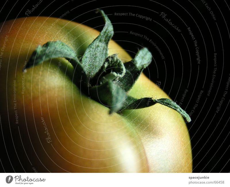 Reifeprozess Gesundheit lecker reif grün rot Nachtschattengewächse Vitamin C schwarz Tomate Gemüse Makroaufnahme