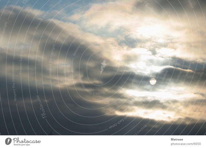 sonne hinter wolken Wolken Natur Sonne Himmel Abend