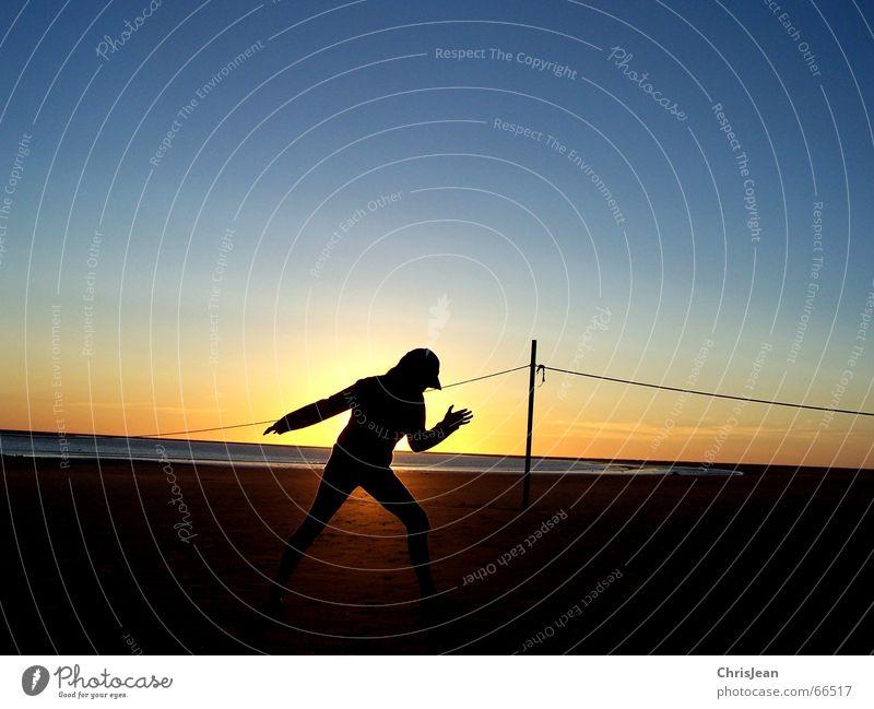 Go! Borkum Strand Meer Stab Baseballmütze Sonnenuntergang ruhig Erholung Wellness Vergangenheit Yoga egypt girl sea Sand Wasser sun Insel Seil Haare & Frisuren