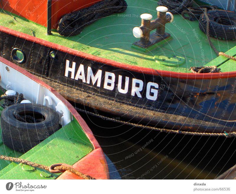Hamburch Wasserfahrzeug Meer Hamburg Hafen Elbe