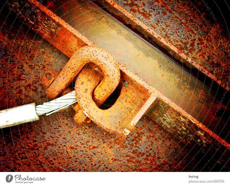 da wo der Pfeffer wächst Metall Industrie Baustelle Metallwaren Vergänglichkeit verfallen Stahl Verfall Handwerk Rost Eisen Recycling Haken Schrott