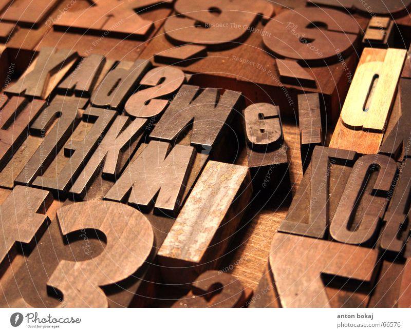 letterbox Typographie Buchstaben Druckerei Druckerzeugnisse Makroaufnahme Schriftzeichen