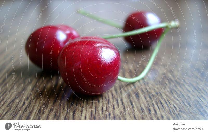 3 Kirschen rot Ernährung Küche Kirsche Frucht