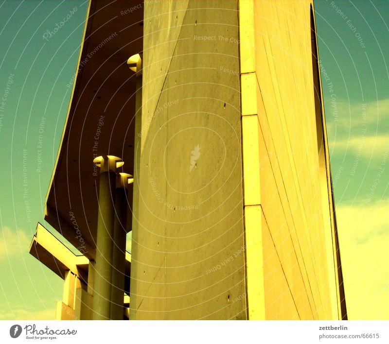 Gelb kommt gut Gelbstich Bundeskanzler Amt Regierungssitz Fassade falschfarben effekthascherei Berlin stararchitekt demokratisch