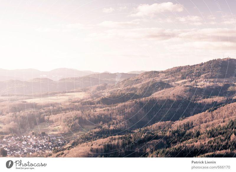 Wiesental Himmel Natur Ferien & Urlaub & Reisen Stadt Pflanze Erholung Landschaft ruhig Wolken Ferne Wald Umwelt Freiheit Wetter Zufriedenheit Tourismus