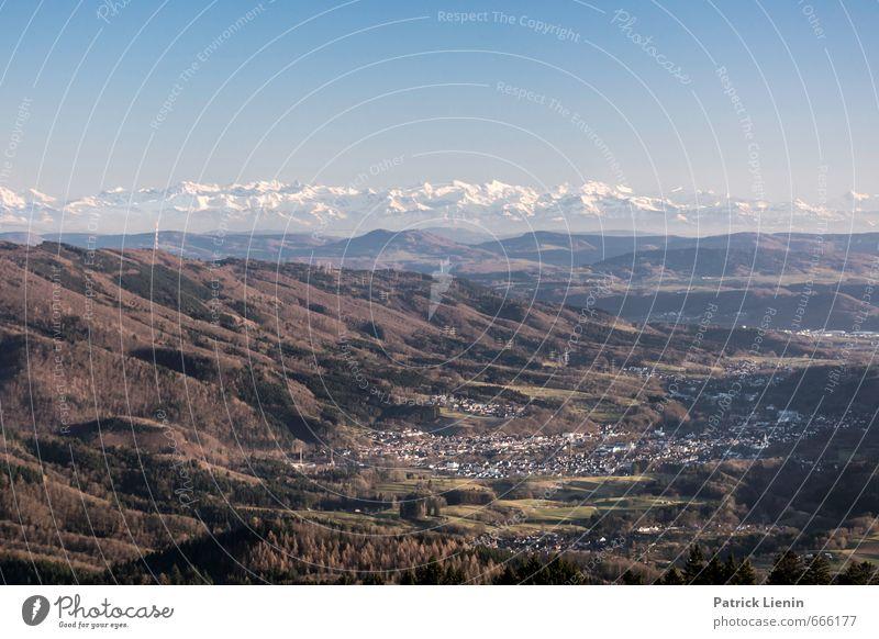 Hohe Möhr Himmel Natur Ferien & Urlaub & Reisen Stadt Landschaft Ferne Wald Berge u. Gebirge Umwelt Freiheit Stimmung Luft Deutschland Wetter Erde Tourismus