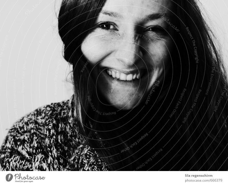lachen Freude Glück Gesicht harmonisch Wohlgefühl Zufriedenheit Mensch feminin Junge Frau Jugendliche Erwachsene 1 18-30 Jahre Kommunizieren frei natürlich