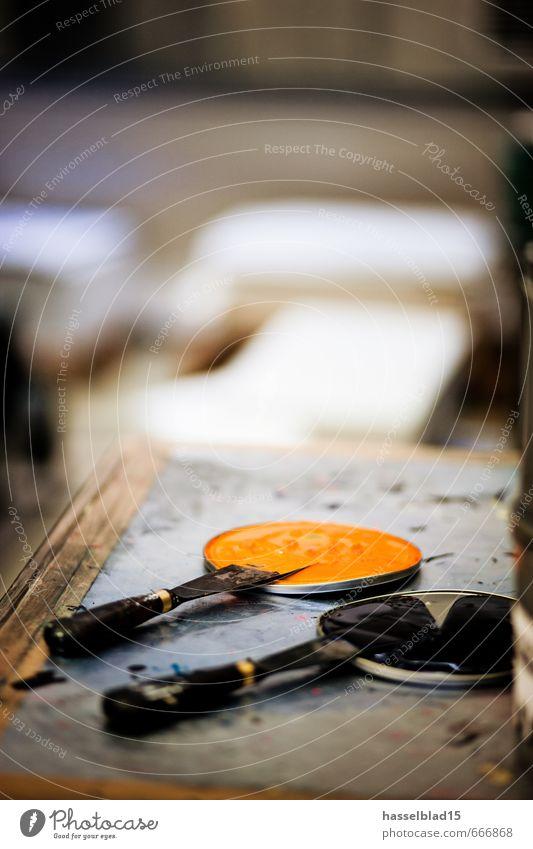 Lack ab. schwarz orange Design berühren Geld Werkstatt Kosmetik Maschine Werbebranche Anstreicher Renovieren Verschlussdeckel Produktion Niederlande