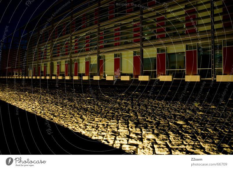 light in the nothing Licht Kopfsteinpflaster abstrakt way street Stein Wege & Pfade Beleuchtung Architektur