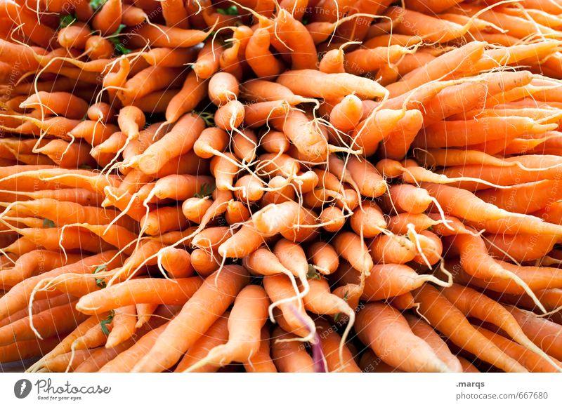 EAT THIS! Lebensmittel Gemüse Möhre Ernährung Bioprodukte Vegetarische Ernährung Gesundheit frisch lecker viele orange Perspektive Vitamin C vitaminreich