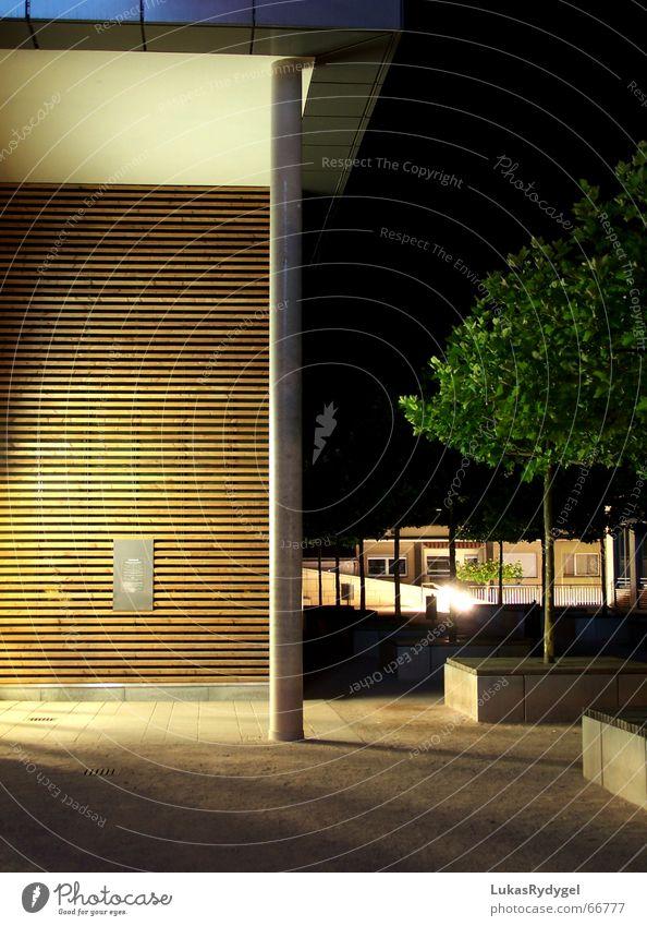 Schlössle-Galerie Stadt ruhig Haus Holz Beleuchtung Dach Kies friedlich Mitternacht Pforzheim