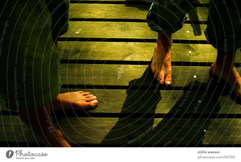 FUSSPARADE grün Wärme Physik Barfuß luftig Paneele