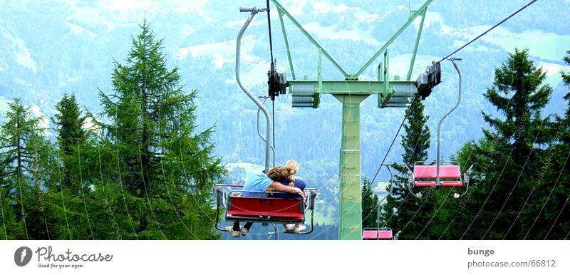 amplitudo extra pectore, in quo armor Baum grün blau Freude Ferien & Urlaub & Reisen Liebe Ferne Wald Erholung Berge u. Gebirge Freiheit Glück Paar Freundschaft