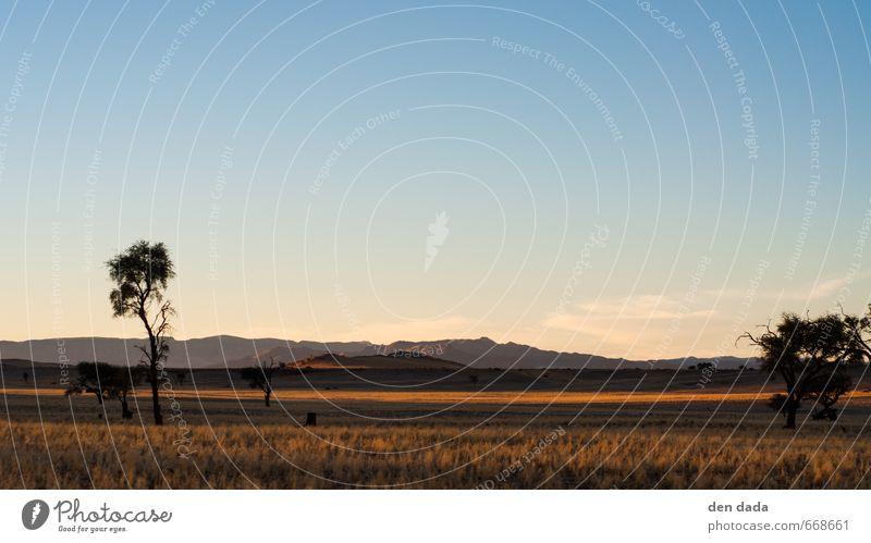 Namib Desert Ferien & Urlaub & Reisen blau Sommer Erholung Ferne gelb Berge u. Gebirge Freiheit Sand Horizont Tourismus wandern Ausflug Abenteuer Unendlichkeit
