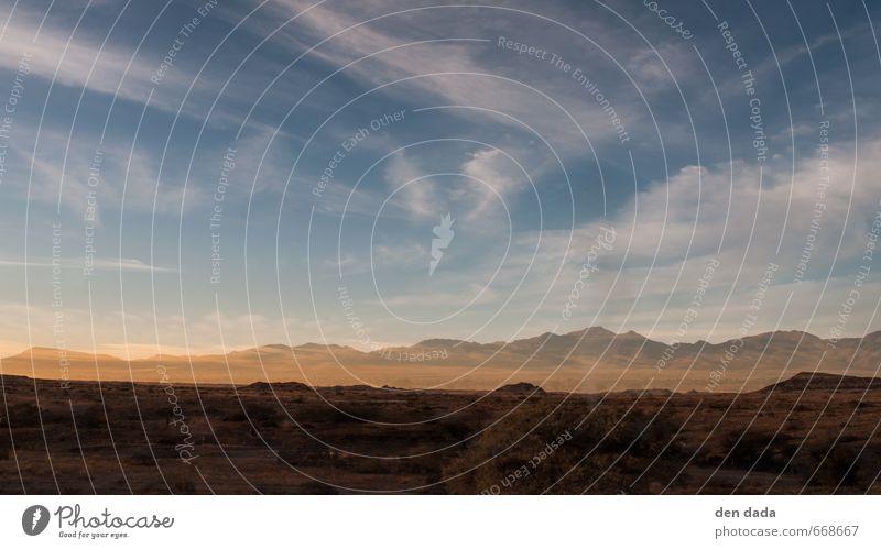 Namib Himmel Natur Ferien & Urlaub & Reisen blau Sommer Landschaft ruhig Ferne Berge u. Gebirge gelb Freiheit Felsen Horizont Tourismus Idylle gold