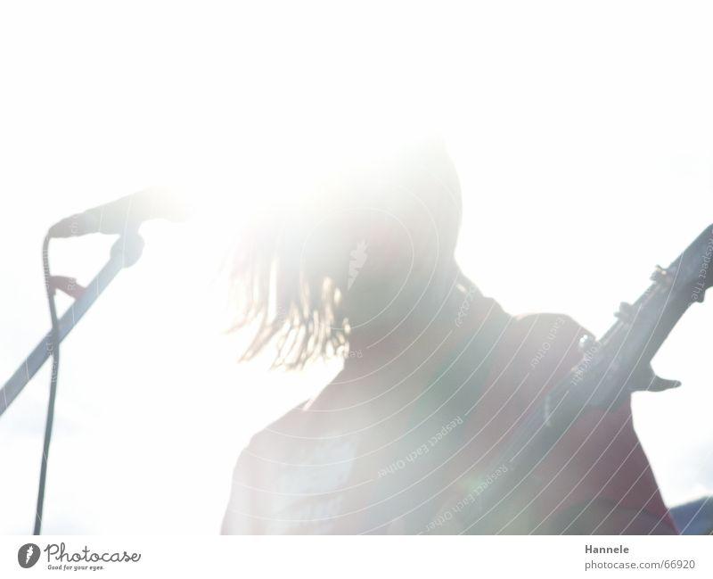 konzert in summer of '06 Konzert Sommer Licht Sonne Physik Mikrofon Sonnenlicht weiß Show Open Air alternativ laut Hessisches Staatstheater Lichterscheinung