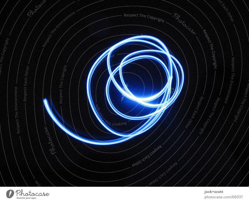 nicht drallfrei blau Hand Freude schwarz Bewegung Zeit Linie Geschwindigkeit Kreis Kreativität einfach Unendlichkeit Euphorie Leichtigkeit durcheinander