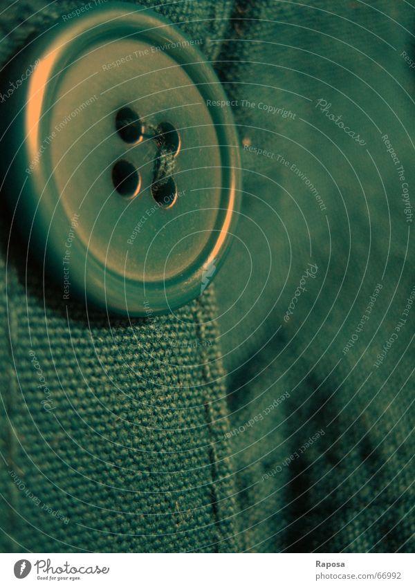 Knöpfchen mit Köpfchen Bekleidung rund Stoff Loch Knöpfe Nähen Naht dunkelgrün