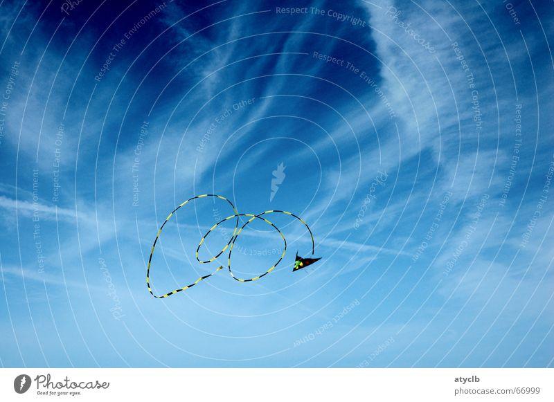 Kite Himmel blau Sommer Freude Wolken Spielen Freiheit Wind Kreis USA Spielzeug Lenkdrachen Kiting Surfen San Francisco