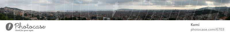 Panorama Barcelona Meer Stadt groß Europa Panorama (Bildformat)