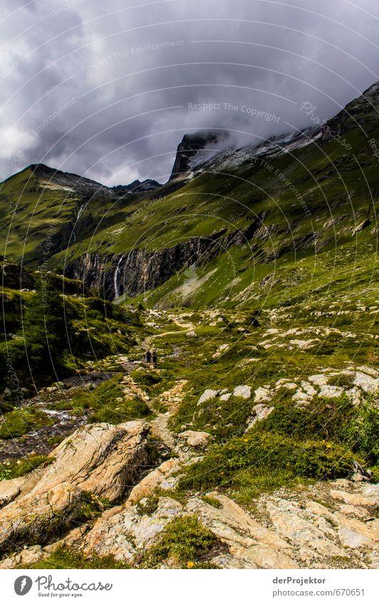 Der Berg ruft 07 Natur Ferien & Urlaub & Reisen Pflanze Sommer Landschaft Wolken Ferne Berge u. Gebirge Umwelt Freiheit Felsen Freizeit & Hobby Nebel Tourismus