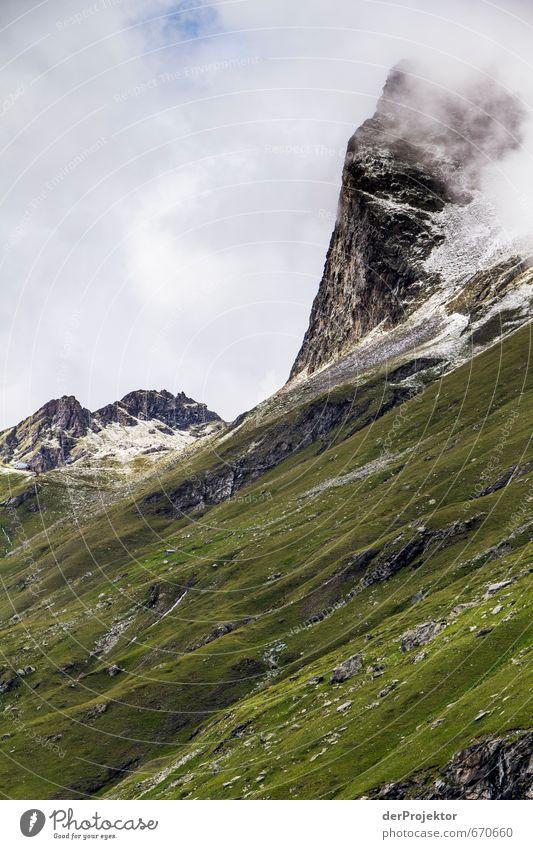 Der Berg ruft 06 Natur Ferien & Urlaub & Reisen Pflanze Sommer Landschaft Wolken Ferne Berge u. Gebirge Umwelt Gefühle Schnee Freiheit Felsen Freizeit & Hobby