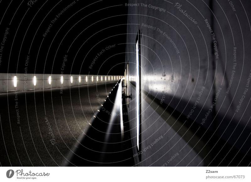 Lightway II Licht abstrakt Wand Lampe light Beleuchtung Wege & Pfade Perspektive Geländer Langzeitbelichtung
