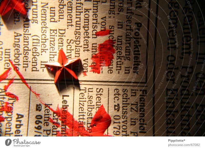 check. In- rot Farbe Stern (Symbol) Schriftzeichen Zeitung Buchstaben Politik & Staat Wiedervereinigung Inserat
