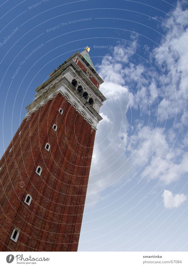 Als Tourist in Venedig Himmel Kunst Venedig Sehenswürdigkeit Glockenturm Campanile San Marco