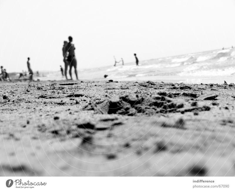 Black Beach Mensch Sommer Strand Sand