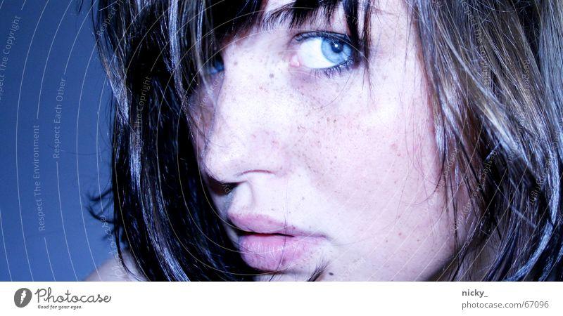 who knew Lippen weich schwarz Porträt nicky mal wieder ich blau Haare & Frisuren Auge Gesicht Nase Haut hair nose face eyes blue black ernie sehsüchtig badly
