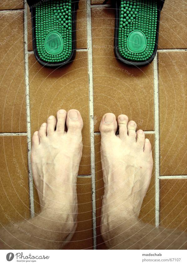 LATSCH ME BABY Schlappen Schuhe Sommer nackt vervielfältigen grün Noppe Massage Ergonomie angenehm Barfuß badeschlappen Fuß Fliesen u. Kacheln straight terasse