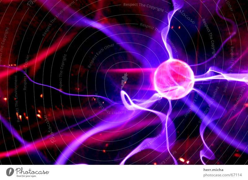 WirrWarr rosa Elektrizität Technik & Technologie violett Kugel Schweben elektrisch faszinierend hypnotisch