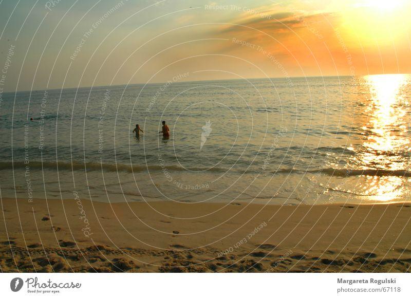 strand Mensch Wasser Meer Strand Sand Paar paarweise