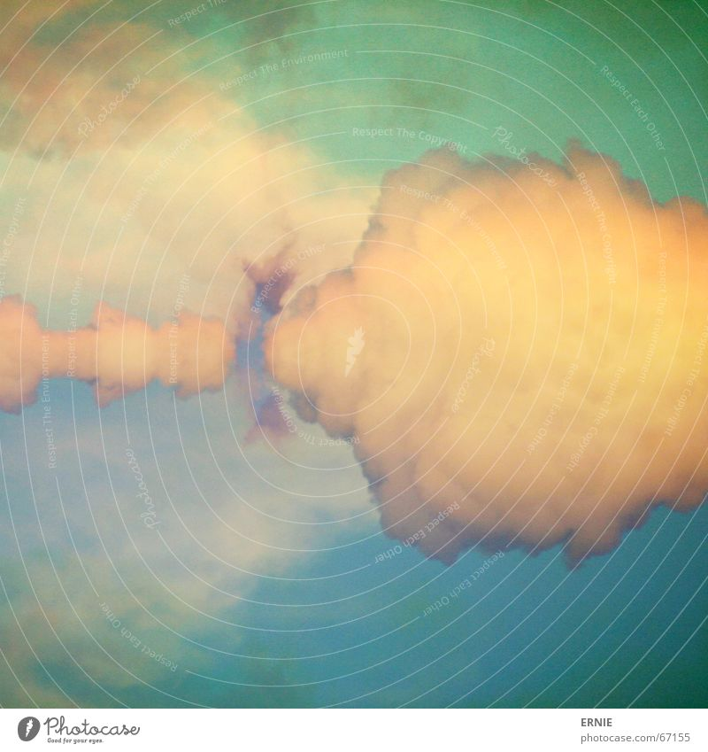 PseudokunstWolke Himmel grün blau Wolken Farbe authentisch falsch Digitalfotografie dramatisch