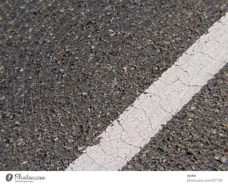Wohin alt Straße Stein Wege & Pfade Linie Asphalt Streifen