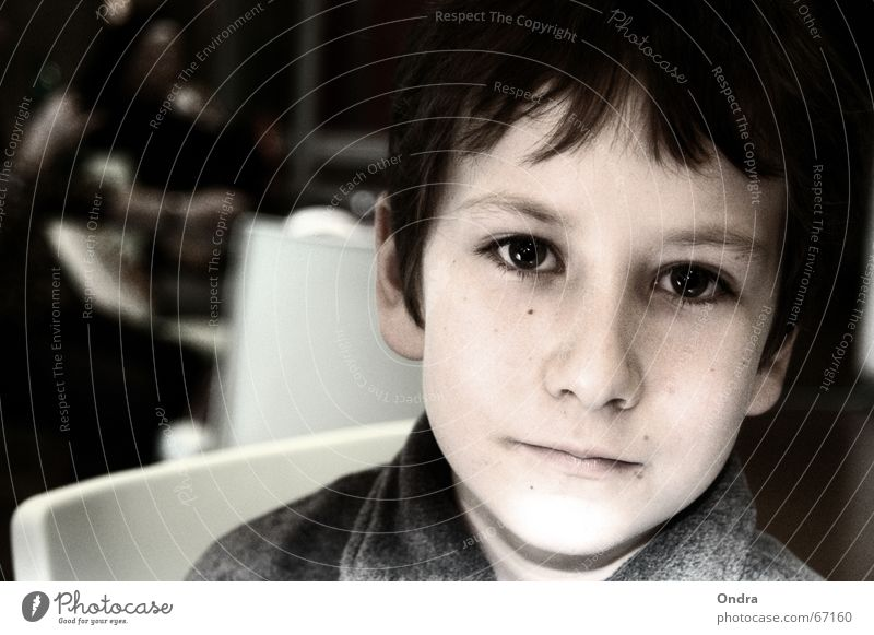 Nachdenklich Gesicht Junge Traurigkeit Denken maskulin Trauer Fragen ernst