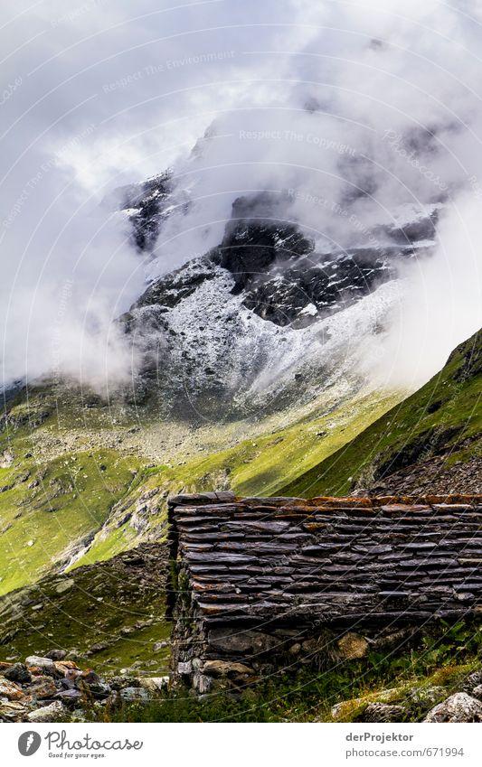 Der Berg ruft 13 - mit Hütte im Vordergrund Natur Pflanze Sommer Landschaft Wolken Berge u. Gebirge Umwelt Gefühle Schnee Freiheit Stimmung Felsen