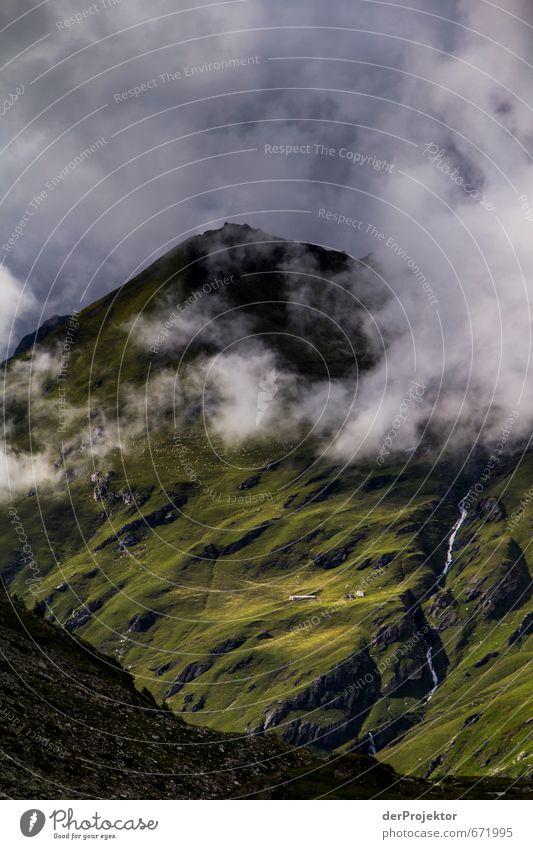 Der Berg ruft 17 – mit Wasserfall Natur Ferien & Urlaub & Reisen Pflanze Sommer Landschaft Wolken Ferne Berge u. Gebirge Umwelt Gefühle Freiheit Felsen