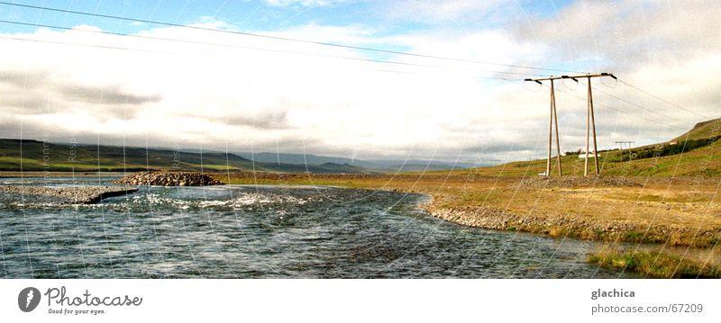 Heaven in Iceland Island Meer Elektrizität Gesellschaft (Soziologie) grau weiß Wolken Wellen Unendlichkeit Himmel Wasser Insel Landschaft blau Ferne water sea