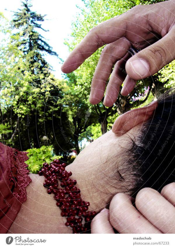 A TOUCH OF NATURE egoistisch Ekel Wut Romantik vergangen Liebeskummer Nacken Frau Hand Finger schlafen Mensch Nadelbaum Erholung Wohlgefühl Ende Erinnerung