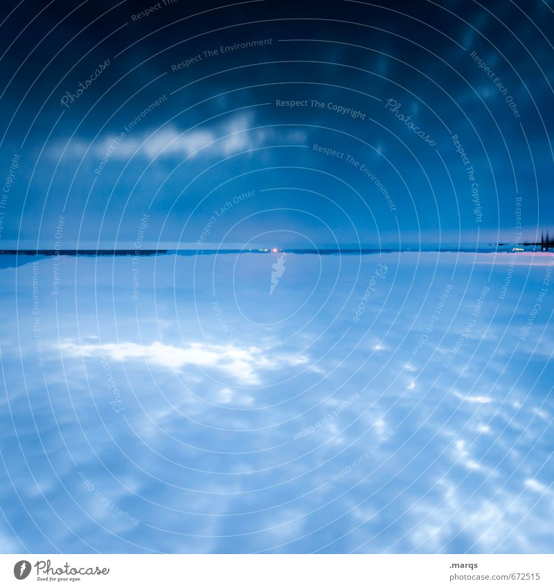 Chiemsee Stil Ferien & Urlaub & Reisen Ausflug Abenteuer Natur Landschaft Urelemente Wasser Wolken Horizont Sommer See außergewöhnlich schön blau Stimmung
