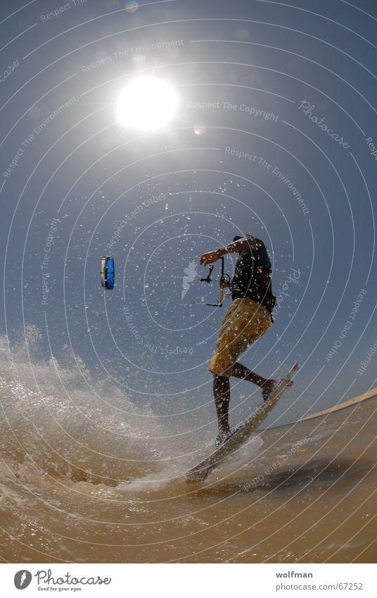 Move Kiting Meer Sport extrem Surfbrett Hawaii Strand springen kiteboarding Sonne Drache Wind Funsport wolfman wolfgang kaufmann wk@ weshotu.com Extremsport