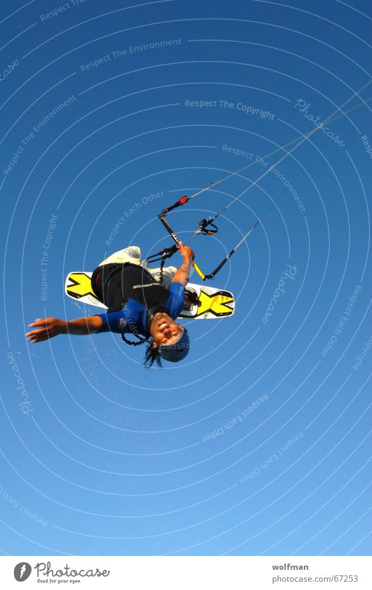 Cool Move Himmel Meer Strand Sport springen Wind hoch Surfen Drache extrem Kiting Hawaii Funsport Surfbrett Extremsport