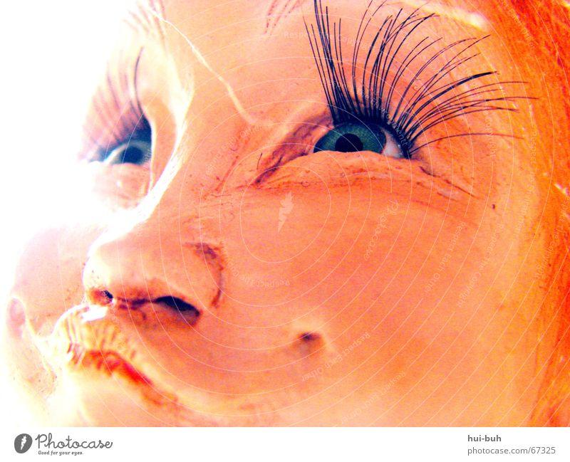 schmunzel Auge Spielen lachen Mund klein Nase süß niedlich frech Wimpern Elfe