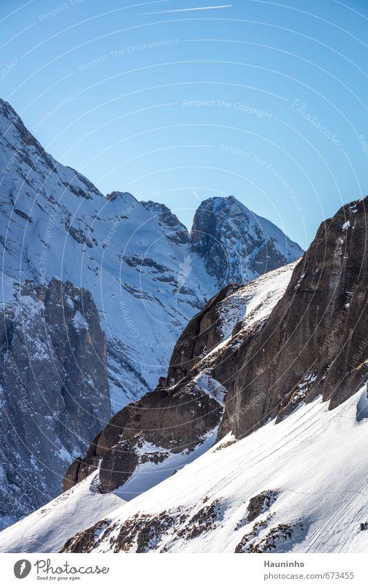 Porta Vescovo Himmel Ferien & Urlaub & Reisen Landschaft Einsamkeit Winter Berge u. Gebirge Umwelt Schnee Sport Freiheit Stein Felsen Wetter Luft